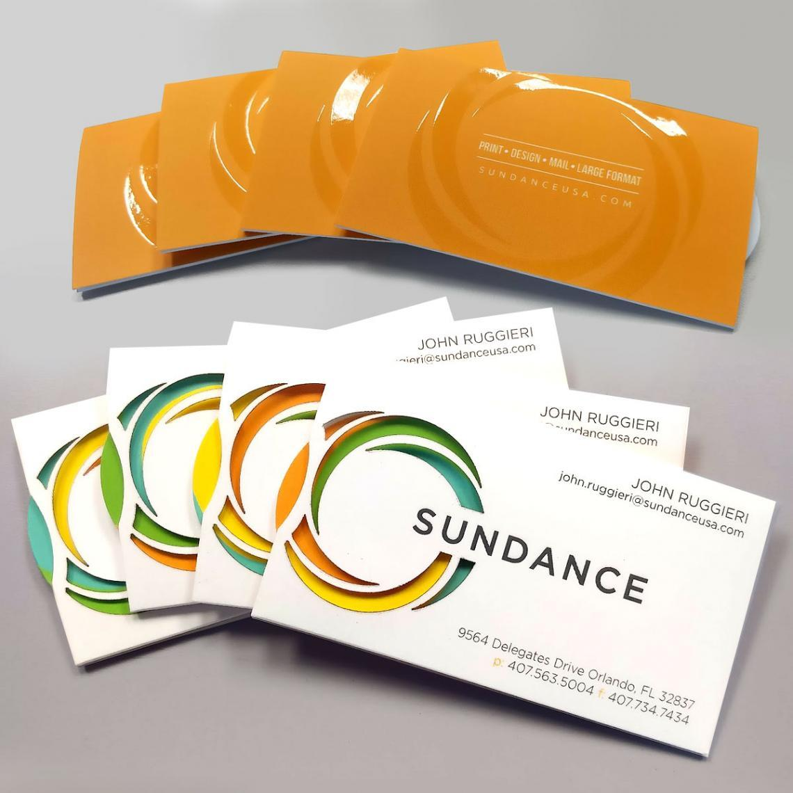 Video sundances spinning business card on 60 second fold reheart